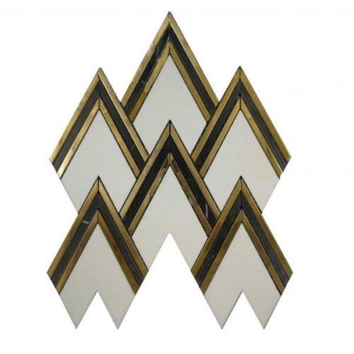 Aurora Herringbone Gold